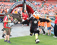 Talon, mascot of D.C. United during an MLS match against Chivas USA at RFK Stadium, on May 29 2010 in Washington DC. United won 3-2.