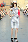 Najla walks runway in a Douglas Hannant Resort 2012 outfit, on the USS Intrepid, June 7, 2011.