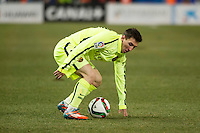 Barcelona´s Lionel Messi during 2014-15 Spanish King Cup match between Atletico de Madrid and Barcelona at Vicente Calderon stadium in Madrid, Spain. January 28, 2015. (ALTERPHOTOS/Luis Fernandez) /nortephoto.com<br />