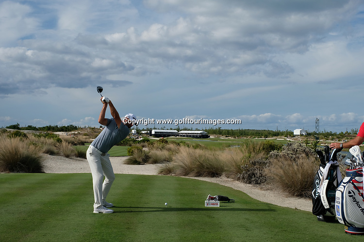 Dustin Johnson during the second round of the 2018 Hero World Challenge being played at The Albany Resort, Bahamas.<br />  Picture Stuart Adams, www.golftourimages.com: \30/11/2018\