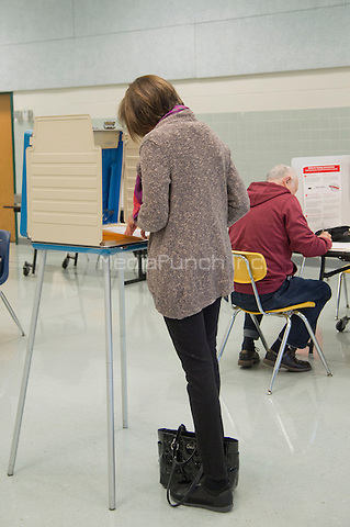 Fairfax, VA,November 8, 2016, USA:   Polling sites in Fairfax, VA are open and voters are making their voices heard in the 2016 Presidential elections. Patsy Lynch/MediaPunch