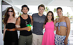 Melissa Archer, Bryan Craig, Chad Duell, Kristen Alderson, Kelly Thiebaud donated time at 15th Southwest Florida Soapfest 2014 Charity Weekend - at Cruisin' and Schmoozin' on May 25, 2104 aboard the Marco Island Princess (boat), Marco Island, Florida.  (Photo by Sue Coflin/Max Photos)