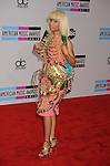 LOS ANGELES, CA. - November 21: Nicki Minaj arrives at the 2010 American Music Awards held at Nokia Theatre L.A. Live on November 21, 2010 in Los Angeles, California.