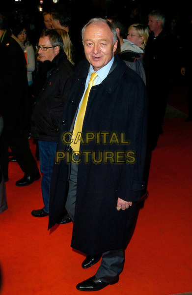 "KEN LIVINGSTONE MP.The Times BFI 51st London Film Festival Screening of ""Lust, Caution"", Odeon West End, London, England, .October 20th 2007. .full length yellow tie Mayor suit.CAP/CAN.©Can Nguyen/Capital Pictures"