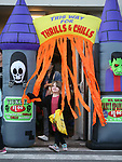 Hundreds of residents participate in the Carson City Boo-nanza on Wednesday, Oct. 25, 2017. Co-hosted by Carson City Parks and Recreation, the Carson City Library and the Carson City Aquatics Facility, the Halloween event which includes trick-or-treating, a haunted house, games, crafts and a dive-in movie.<br /> Photo by Cathleen Allison/Nevada Momentum