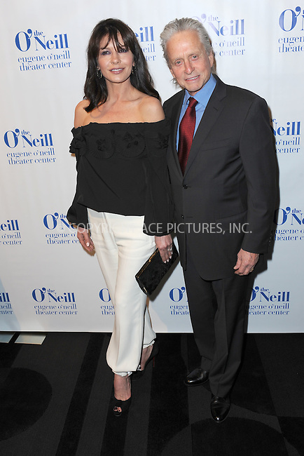 WWW.ACEPIXS.COM<br /> April 21, 2014 New York City<br /> <br /> Catherine Zeta-Jones and Michael Douglas arriving at the Eugene O'Neill Theater Center event at the Edison Ballroom on April 21, 2014 in New York City.<br /> <br /> By Line: Kristin Callahan/ACE Pictures<br /> ACE Pictures, Inc.<br /> tel: 646 769 0430<br /> Email: info@acepixs.com<br /> www.acepixs.com
