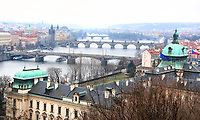 View over the Vitara River showing the bridges, Prague, Czech Republic on February 28th to March 3rd 2018<br /> CAP/ROS<br /> &copy;ROS/Capital Pictures