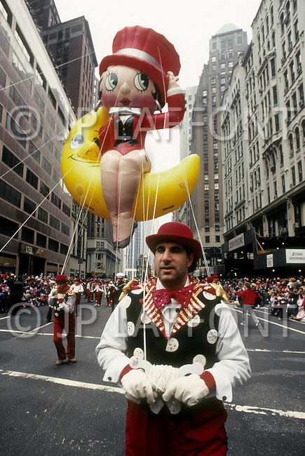 New York, U.S.A, 24th, November, 1988. Betty Boo seen at the famous Macy's Thanksgiving Parade.