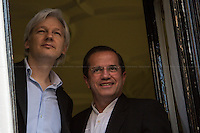 16.06.2013 - Julian Assange Meets the Ricardo Patiño, Minister of Foreign Affairs of Ecuador
