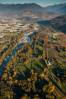 Chilliwack River at Yarrow in the Fraser Valley and near the point it is crossed by the Kinder Morgan Trans Mountain Pipeline.