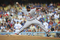 05/20/12 Los Angeles, CA: St. Louis Cardinals relief pitcher Victor Marte #66 during an MLB game between the St Louis Cardinals and the Los Angeles Dodgers played at Dodger Stadium. The Dodgers defeated the Cardinals 6-5.