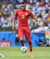 FUSSBALL WM 2014  VORRUNDE    GRUPPE G     Deutschland - Ghana                 21.06.2014 Jordan Ayew (Ghana) am Ball