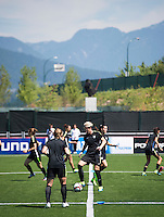 Vancouver, Canada - July 3, 2015:  The USWNT trained in preparation for the FIFA Women's World Cup Final at BC Place.