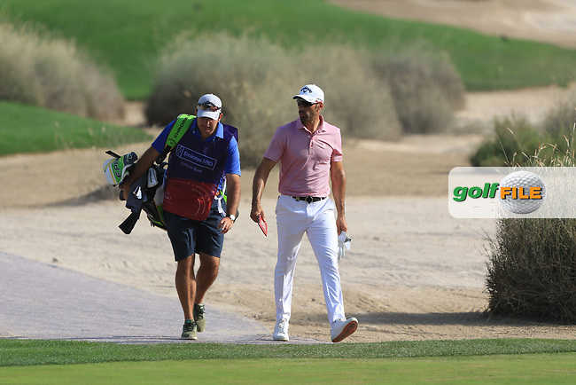 Alvaro Quiros (ESP) on the 16th during Round 4 of the Omega Dubai Desert Classic, Emirates Golf Club, Dubai,  United Arab Emirates. 27/01/2019<br /> Picture: Golffile | Thos Caffrey<br /> <br /> <br /> All photo usage must carry mandatory copyright credit (&copy; Golffile | Thos Caffrey)