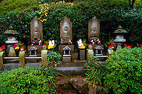 Buddhist temple with stone sculptures, Mitakidera, Hiroshima, Japan