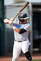 Mario Zabala during the Under Armour All-America Pre-Season Tournament, powered by Baseball Factory, on January 19, 2019 at Sloan Park in Mesa, Arizona.  Mario Zabala is an outfielder from San Juan, Puerto Rico who attends International Baseball Academy and is committed to FIU.  (Mike Janes/Four Seam Images)
