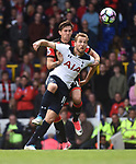 Harry Kane-Tottenham & Charlie Daniels-Bournemouth during the English Premier League match at the White Hart Lane Stadium, London. Picture date: April 15th, 2017.Pic credit should read: Chris Dean/Sportimage