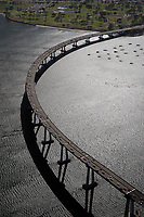 aerial photograph of the San Diego-Coronado Bridge, San Diego, California