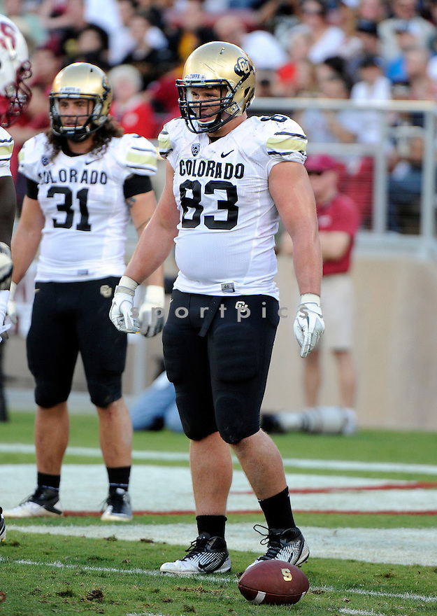 WILL PERICAK, of the Colorado Buffaloes, in action during Colorado's game against the Stanford Cardinal on October 8, 2011 at Stanford Stadium in Stanford, CA. Stanford beat Colorado 48-7.