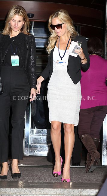 WWW.ACEPIXS.COM<br /> <br /> September 25 2013, New York City<br /> <br /> Actress Kate Hudson at the  Clinton Global Initiative (CGI) meeting on September 25, 2013 in New York City.<br /> <br /> By Line: Nancy Rivera/ACE Pictures<br /> <br /> <br /> ACE Pictures, Inc.<br /> tel: 646 769 0430<br /> Email: info@acepixs.com<br /> www.acepixs.com