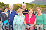 Fiona Lynch, Colm Kelly, Peggy, Paudie Lynch, Catherine and Nuala Kelly Beaufort keeping fit at the charity walk in aid of the Beaufort gym in Ross Castle on Sunday morninging.....