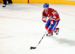 23 January 2010: Montreal Canadiens' right wing forward Brian Gionta leads a rush up ice against the New York Rangers at the Bell Centre in Montreal, Quebec, Canada. The Canadiens shut out the Rangers 6-0. Mandatory Credit: Ed Wolfstein Photo