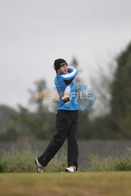 Gerard Dunne (Seapoint) on the 11th Tee Box on Day 2 of the East of Ireland Amateur Open Championship 2011 in Co.Louth Golf Club....(Photo credit should read Jenny Matthews www.newsfile.ie)....This Picture has been sent you under the conditions enclosed by:.Newsfile Ltd..The Studio,.Millmount Abbey,.Drogheda,.Co Meath..Ireland..Tel: +353(0)41-9871240.Fax: +353(0)41-9871260.GSM: +353(0)86-2500958.email: pictures@newsfile.ie.www.newsfile.ie.