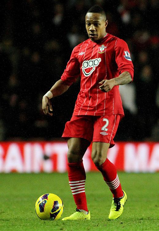 Southampton's Nathaniel Clyne...- Credit - CameraSport - James Marsh - ..Football - Barclays Premiership - Southampton v Everton - Monday 21st January 2013 - St Mary's - Southampton..