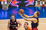 FC Barcelona Lassa's Aleksandar Vezenkov Brad Oleson during the match of Endesa ACB League between Fuenlabrada Montakit and FC Barcelona Lassa at Fernando Martin Stadium in fuelnabrada,  Madrid, Spain. October 30, 2016. (ALTERPHOTOS/Rodrigo Jimenez)