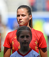 20190601 - LEUVEN , BELGIUM : Belgian Shari Van Belle pictured during the female soccer game between the Belgian Red Flames and Thailand , a friendly game as a preparation for Thailand for the World Championship in France 2019, Saturday 1 th June 2019 at OHL Stadion Den Dreef in Leuven , Belgium. PHOTO SPORTPIX.BE | DAVID CATRY