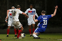 Niall Maher of Halifax Town and Michael Cheek of Dagenham  during FC Halifax Town vs Dagenham & Redbridge, Vanarama National League Football at The Shay on 13th March 2018