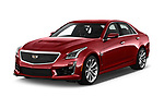 2019 Cadillac CTS-V - 4 Door Sedan Angular Front stock photos of front three quarter view