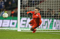 Manchester City's Ederson during the penalty shoot-out <br /> <br /> Photographer Rob Newell/CameraSport<br /> <br /> The Carabao Cup Final - Chelsea v Manchester City - Sunday 24th February 2019 - Wembley Stadium - London<br />  <br /> World Copyright © 2018 CameraSport. All rights reserved. 43 Linden Ave. Countesthorpe. Leicester. England. LE8 5PG - Tel: +44 (0) 116 277 4147 - admin@camerasport.com - www.camerasport.com