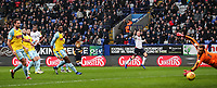 Bolton Wanderers' Sammy Ameobi scoring his side's first goal against Rotherham United's goalkeeper Marek Rodak<br /> <br /> Photographer Andrew Kearns/CameraSport<br /> <br /> The EFL Sky Bet Championship - Bolton Wanderers v Rotherham United - Wednesday 26th December 2018 - University of Bolton Stadium - Bolton<br /> <br /> World Copyright © 2018 CameraSport. All rights reserved. 43 Linden Ave. Countesthorpe. Leicester. England. LE8 5PG - Tel: +44 (0) 116 277 4147 - admin@camerasport.com - www.camerasport.com