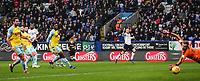 Bolton Wanderers' Sammy Ameobi scoring his side's first goal against Rotherham United's goalkeeper Marek Rodak<br /> <br /> Photographer Andrew Kearns/CameraSport<br /> <br /> The EFL Sky Bet Championship - Bolton Wanderers v Rotherham United - Wednesday 26th December 2018 - University of Bolton Stadium - Bolton<br /> <br /> World Copyright &copy; 2018 CameraSport. All rights reserved. 43 Linden Ave. Countesthorpe. Leicester. England. LE8 5PG - Tel: +44 (0) 116 277 4147 - admin@camerasport.com - www.camerasport.com