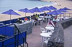 AE2KTB Beach cafe restaurant St Ives Cornwall England