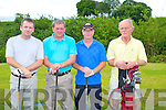 GOLF: members of Castleisland Golf Club supporting the Join Captains Charity Day at Castleisland Golf Club on Sunday l-r: Timmy and Mike Sugrue, Pa White and Jack Aherne.