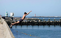 Nederland - IJmuiden- 2019.  Strand en haven van IJmuiden.    Foto Berlinda van Dam / Hollandse Hoogte