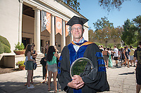 Daniel Snowden-Ifft, Professor, Physics receives The Graham L. Sterling Memorial Award. Incoming first-years start the year at Occidental College's 127th annual Convocation ceremony on Aug. 28, 2013 in Thorne Hall.<br /> (Photo by Marc Campos, Occidental College Photographer)