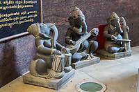 Sculptures of Ganesh Playing Musical Instruments, Sri Senpaga Vinayagar Hindu Ganesh Temple, Joo Chiat District, Singapore.