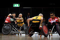 Ryley Batt (AUS) vs Japan<br /> Australian Wheelchair Rugby Team<br /> 2018 IWRF WheelChair Rugby <br /> World Championship / Day 4<br /> Sydney  NSW Australia<br /> Wednesday 8th August 2018<br /> &copy; Sport the library / Jeff Crow / APC