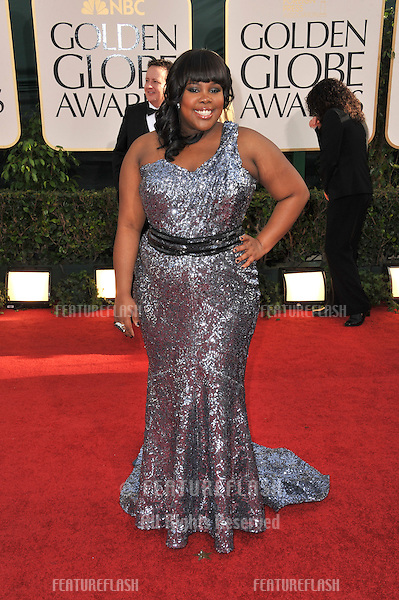 Amber Riley at the 68th Annual Golden Globe Awards at the Beverly Hilton Hotel..January 16, 2011  Beverly Hills, CA.Picture: Paul Smith / Featureflash
