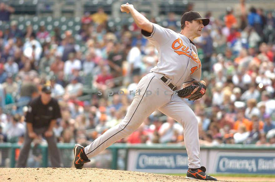 STEVE TRACHSEL, of the Baltimore Orioles , in action during the Orioles game against the Detroit Tigers on May 2, 2007 in Detroit, Tigers...Tigers win 5-4...Chris Bernacchi/ SportPics..