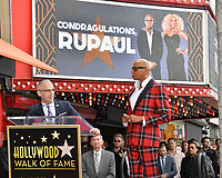 RuPaul &amp; Mitch O'Farrell at the Hollywood Walk of Fame Star Ceremony honoring TV drag star RuPaul on Hollywood Boulevard, Los Angeles, USA 16 March 2018<br /> Picture: Paul Smith/Featureflash/SilverHub 0208 004 5359 sales@silverhubmedia.com