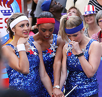 NEW YORK, NY-August 08: Paula Faris, Rachel Smith Sara Haines at Good Morning America going for GMA Olympic Gold in New York. NY August 08, 2016. Credit:RW/MediaPunch