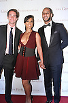 """(L-R) Executive Director of the the Gordon Parks Foundation, Peter W. Kunhardt Jr, Alicia Keys and her husband Kasseem """"Swizz Beatz"""" Dean arrive at the Gordon Parks Foundation 2014 Award Dinner and Auction on June 3, 2014 at Cipriani Wall Street, located on 55 Wall Street."""