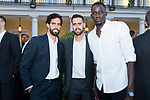 Players Javi Beiran (l) , Joan Sastre and Ilimane Diop (r) during the first edition of Spanish Basketball Awards. July 25, 2019. (ALTERPHOTOS/Francis Gonzalez)