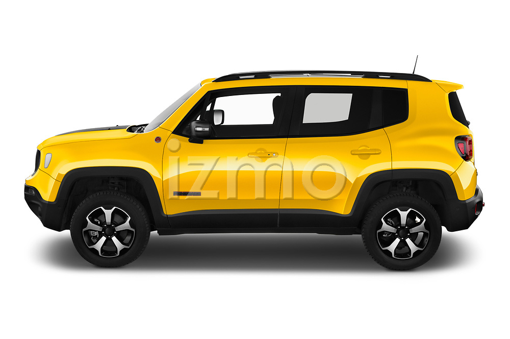 Car Driver side profile view of a 2019 JEEP Renegade Trailhawk 5 Door SUV Side View
