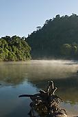 Pará State, Brazil. Aldeia Pukararankre (Kayapo). Early morning by the river.