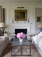 The reworked drawing room has been restored to its former grandeur with the addition of new mouldings and a chimneypiece